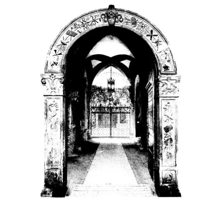 Arco di ingresso a Palazzo Sacrati